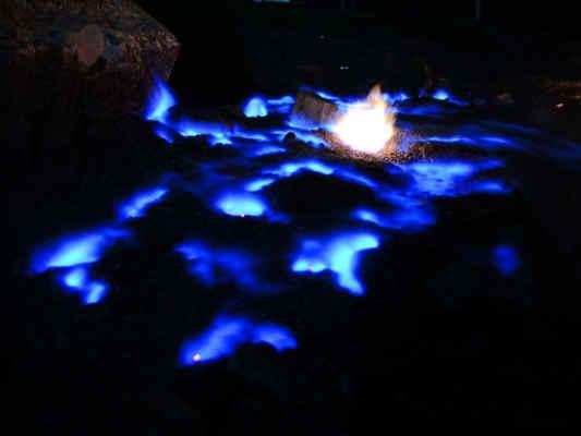 Modrá ohnivá mlha, ve skutečnosti běhala, tohle je kumulovaný na dlouhej čas