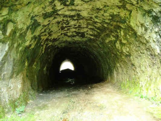 Zajímavost, starý silniční tunel, momentálně plný hoven