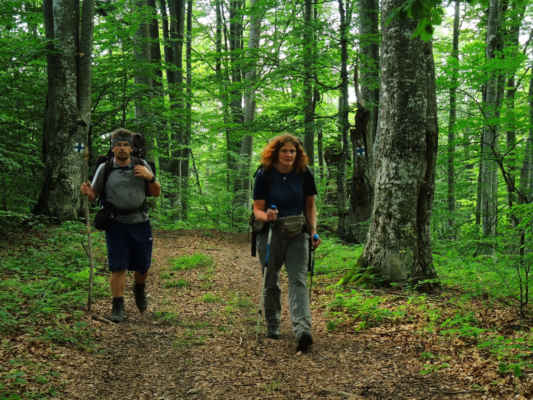 A už krájíme první kilometry severní částí pohoří Bodoc