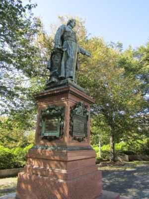 Reitenbergerova socha stojí na kolonádě u Zpívající fontány. Byla odhalena u příležitosti 100. výročí opatova narození v roce 1879.