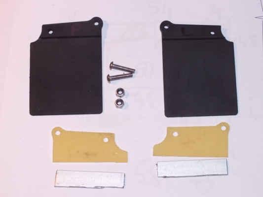 Úprava gumových zástěrek od Team Losi. Šablona z hliníku a sklolaminátu.