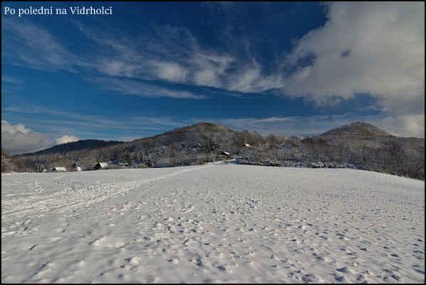 Středohoří - Popolední pohoda na Vidrholci,krásný zimní den..