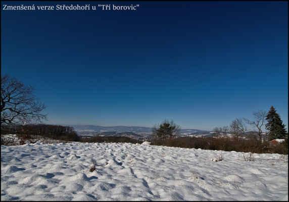 Středohoří - Zmenšený model Středohoří.Po oblevě zbylo ještě sněhu dost,a dnes i se Sluncem..
